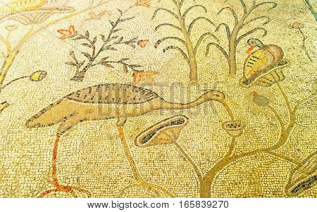 The Mosaic Heron And Duck