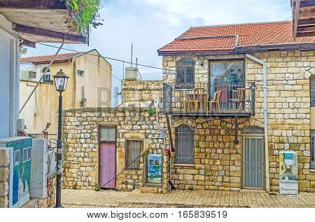 The Stone Cottages In Safed