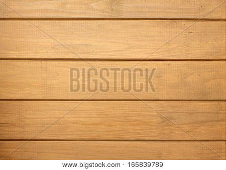 Fence from brown wooden horizontal planks as background closeup