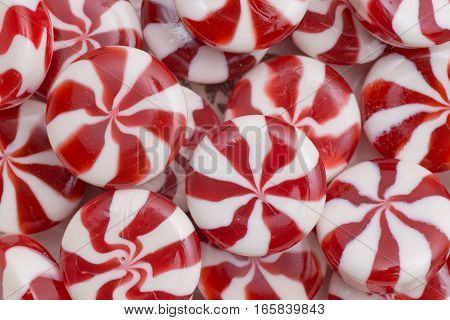 Candies colorful mix isolated background with copy space.