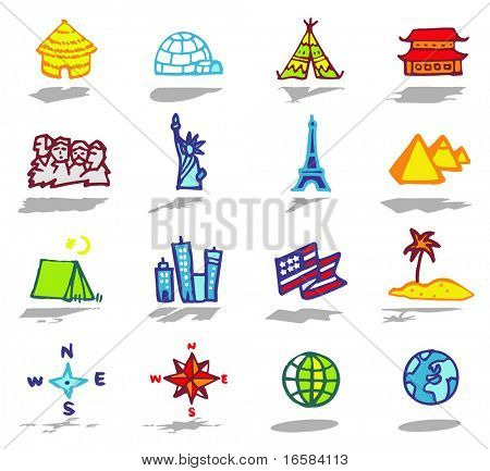 color icons - travel