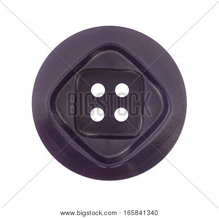 Detail of the button isolated on white background