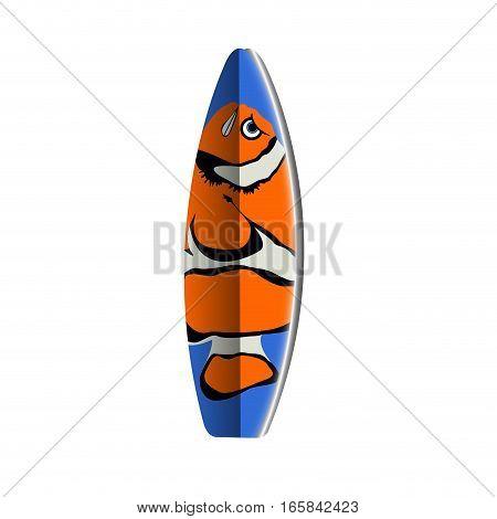 Isolated Surfboard