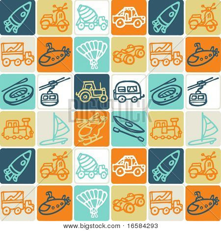 transportation - check pattern