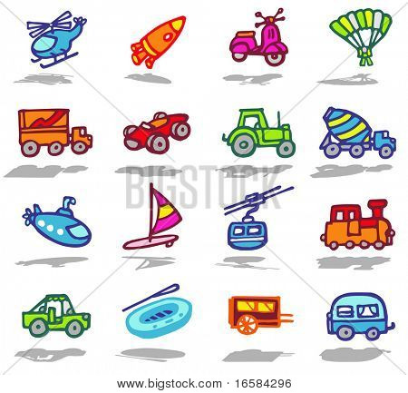 color icons - transportation 2