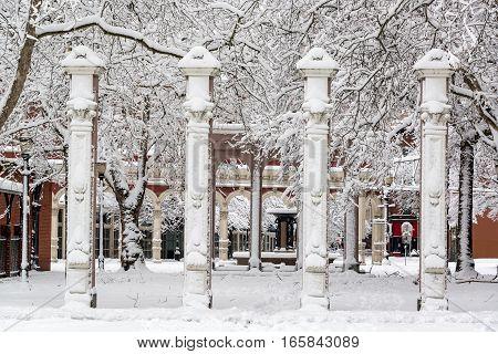 Ankeny Square Under Snow