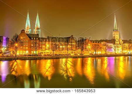 The Trave River In Lubeck - Germany