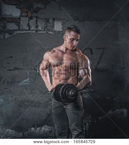 Bodybuilder With Weight