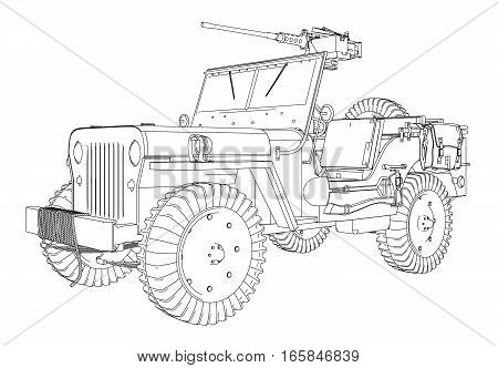 Army Jeep Vector 01.eps