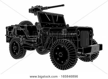 Army Jeep Vector 02.eps