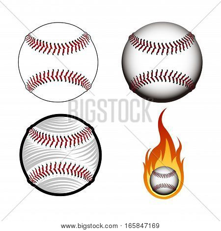 Set Of Baseball Balls