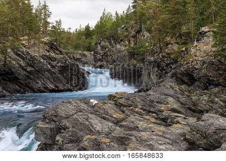 It is Polfossen waterfall Norway which has a second name -