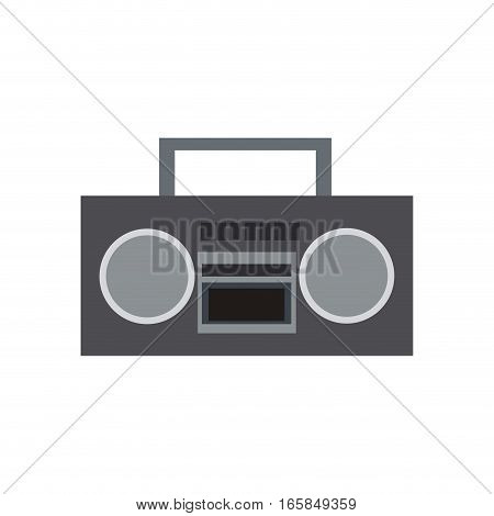 boombox stereo icon over white background. colorful design. vector illustration