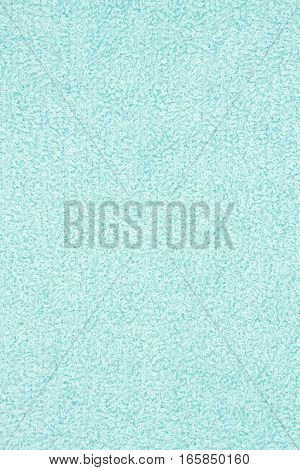 Light teal pile terry cloth fabric background