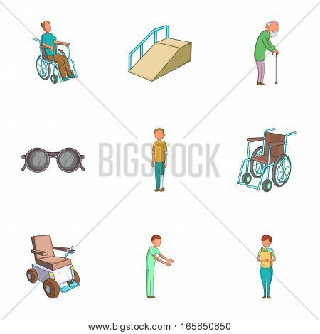 Accessibility icons set. Cartoon illustration of 9 accessibility vector icons for web