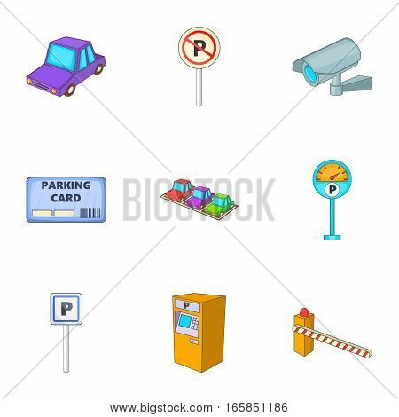 Car accommodation icons set. Cartoon illustration of 9 car accommodation vector icons for web