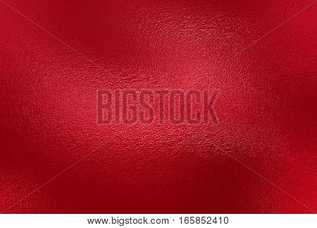 Red foil paper decorative texture background. Close up