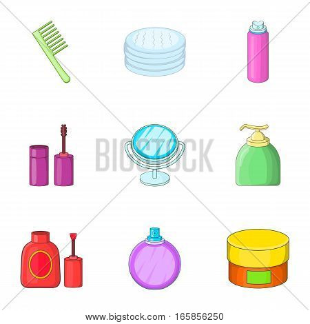 Personal care icons set. Cartoon illustration of 9 personal care vector icons for web