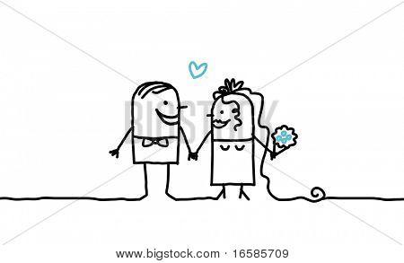 couple and wedding