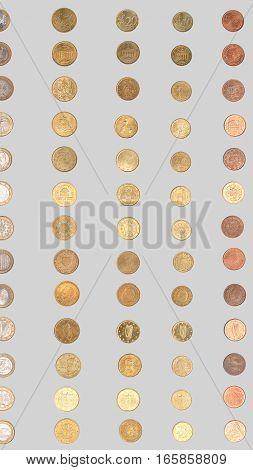 Euro Coin - Vertical