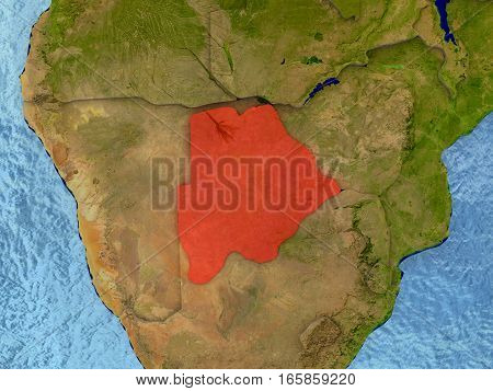 Botswana In Red