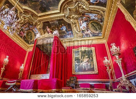 Versailles,France-June 2016: Royal chamber in the palace