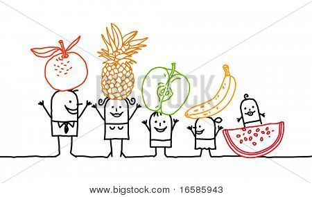 family and fruits