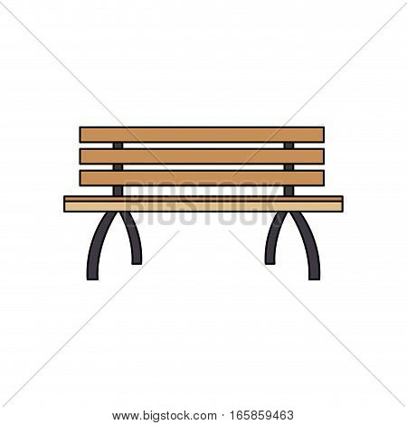 park bench icon over white background. colorful design. vector illustration