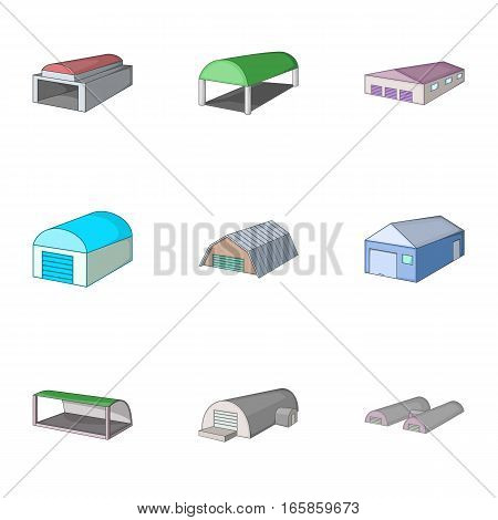 Car garage icons set. Cartoon illustration of 9 car garage vector icons for web
