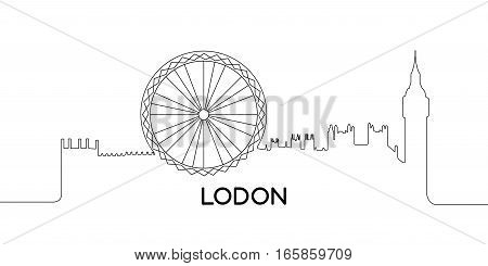 Isolated Outline Of London