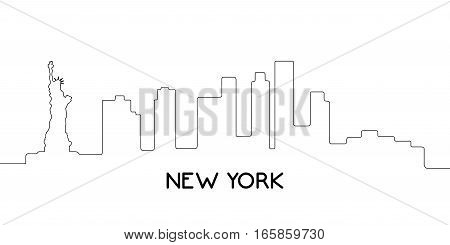 Isolated Outline Of New York