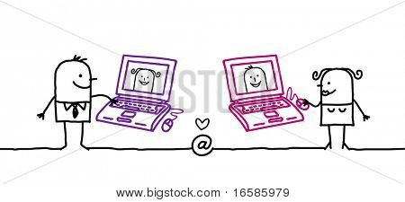 couple and internet