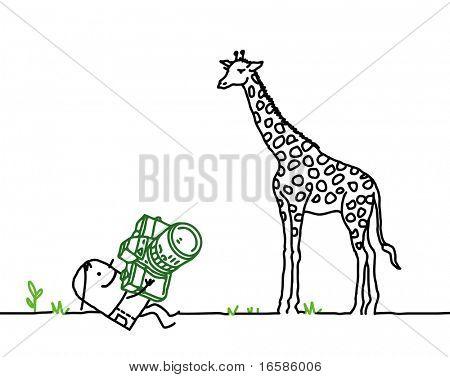 photograph and giraffe
