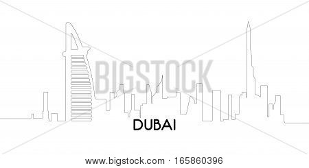 Isolated Outline Of Dubai