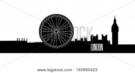 Isolated Silhouette Of London