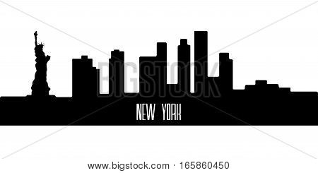 Isolated Silhouette Of New York