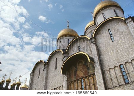 Architecture travel background old church - Moscow, Russia