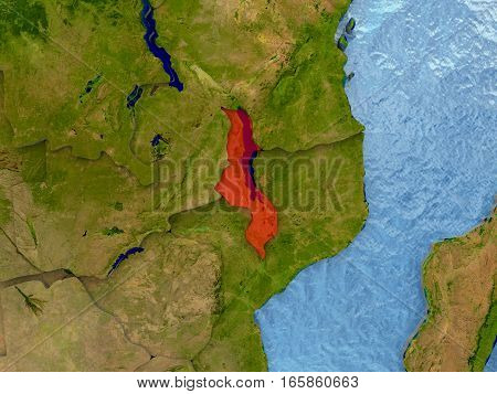 Malawi In Red