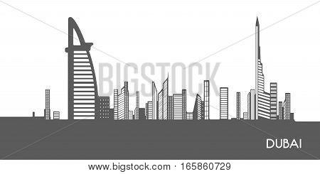 Isolated Cityscape Of Dubai