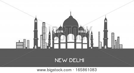 Isolated Cityscape Of New Delhi