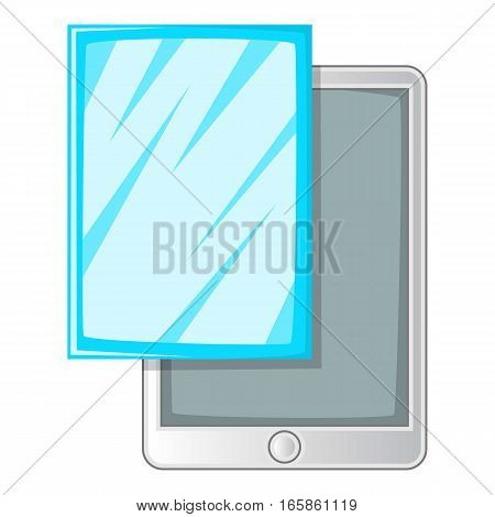 Screen protector film for tablet icon. Cartoon illustration of screen protector film for tablet vector icon for web design