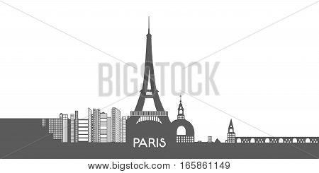 Isolated Cityscape Of Paris