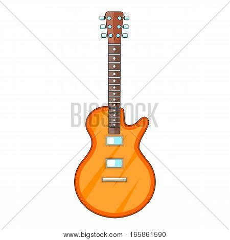 Acoustic guitar icon. Cartoon illustration of acoustic guitar vector icon for web design