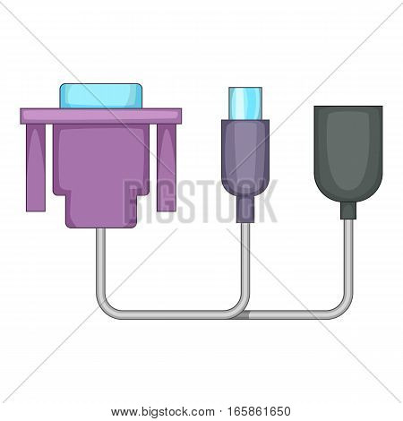 Audio cable icon. Cartoon illustration of audio cable vector icon for web design