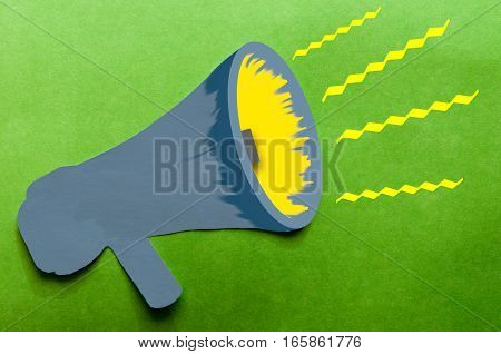 Announcement Of Important Message From A Megaphone