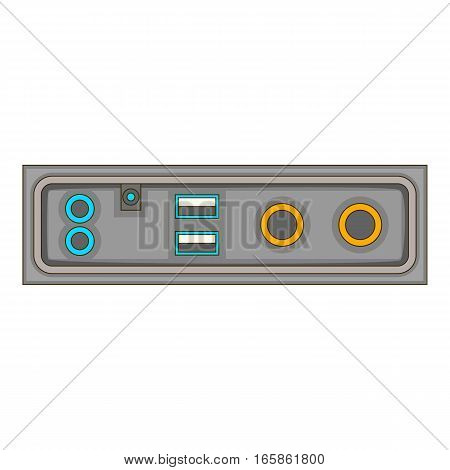 cable connection panel icon. Cartoon illustration of cable connection panel vector icon for web design