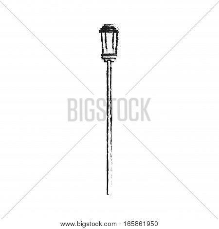 street light icon over white background. vector illustration