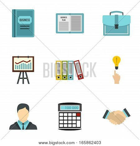 Earnings icons set. Flat illustration of 9 earnings vector icons for web