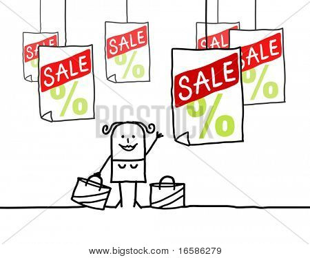 sale and shopping