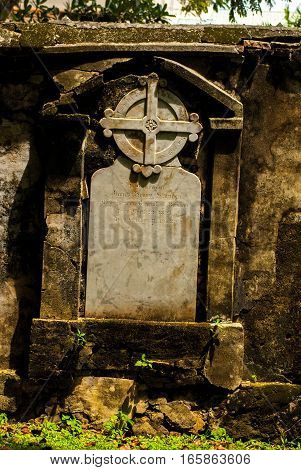 Colonial Graveyard in Georgetown, Penang Malaysia July 2015